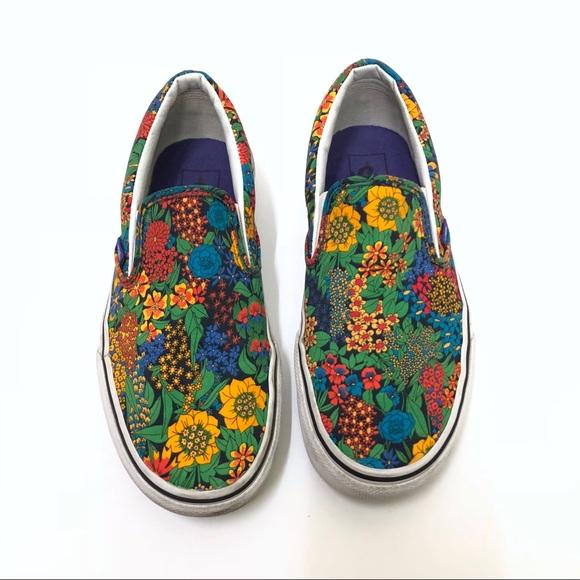 88e799c7a3 Vans x Liberty Of London Floral Printed Slip Ons. M 5b33c311a5d7c63c513bda8e